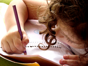 child_writing